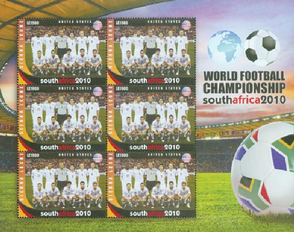 2010 Sierra Leone US World Cup Sheet