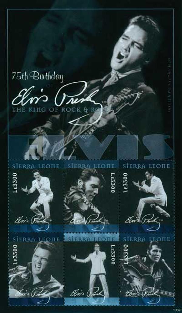 2010 Sierra Leone Elvis 6v Mint