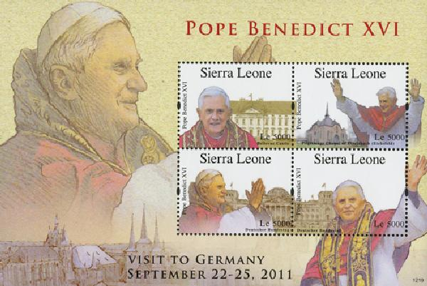 2012 Sierra Leone Pope Benedict in Germa