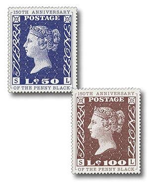 1990 Le50 & Le100 150th Anniversary of the Penny Black 2v