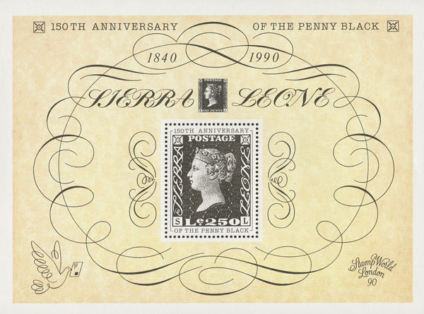 1990Le250 150th Anniversary of the Penny Black S/S