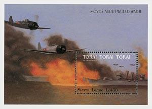 World War II Movies - Tora! Tora! Tora!, Mint Souvenir Sheet, Sierra Leone