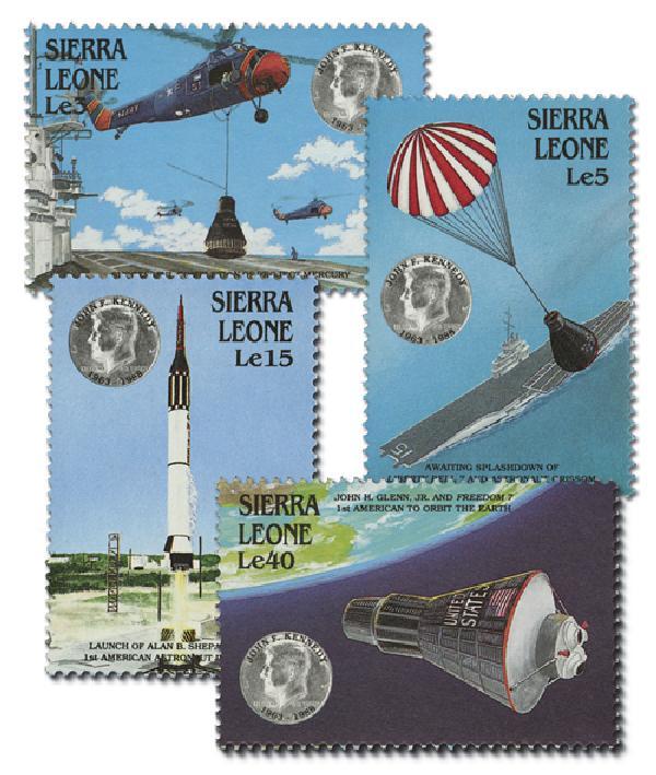 1988 Sierra Leone 1000-03 JFK Space