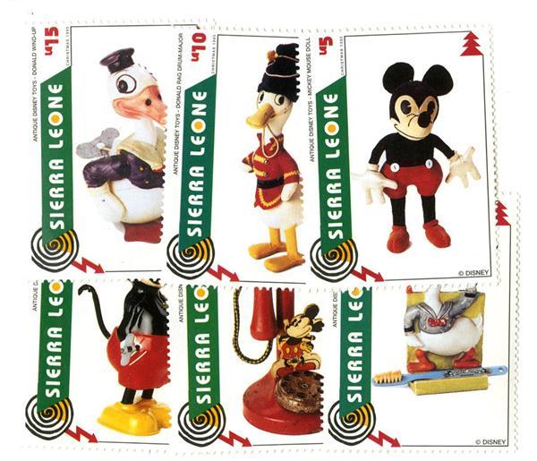 1995 Disneys Antique Toys, Mint, Set of 6 Stamps, Sierra Leone