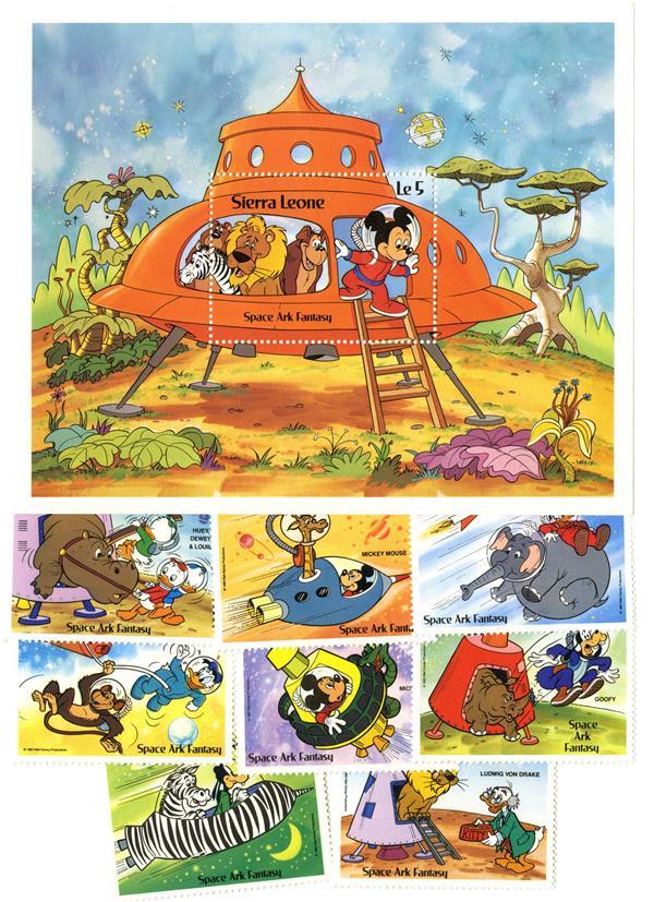 "Sierra Leone 1983 ""Space Ark Fantasy"""