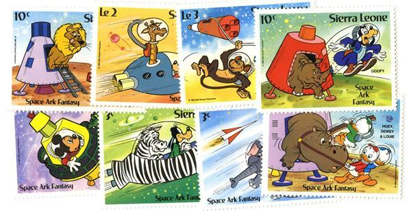 Sierra Leone Space Ark Fantasy 8 Stamps