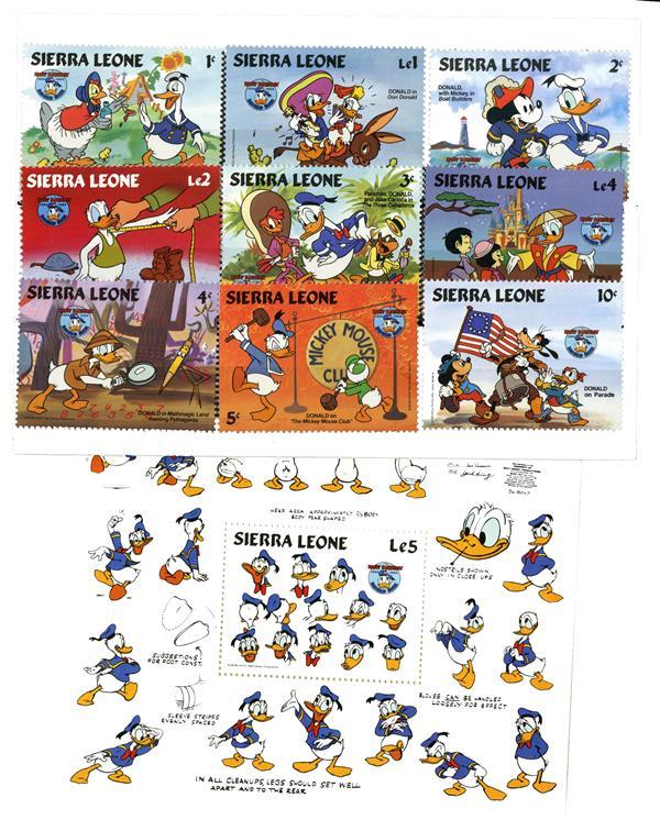 Sierra Leone 1984 Donalds, 50th Anniv.