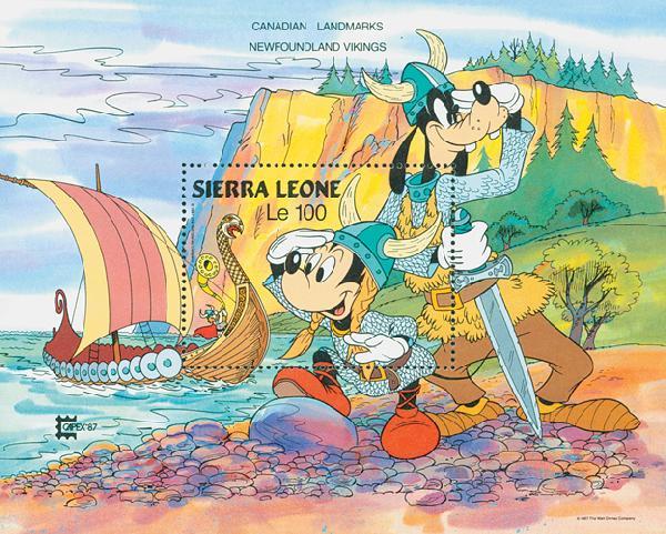 Sierra Leone 1987 Newfoundland, Mint S/S