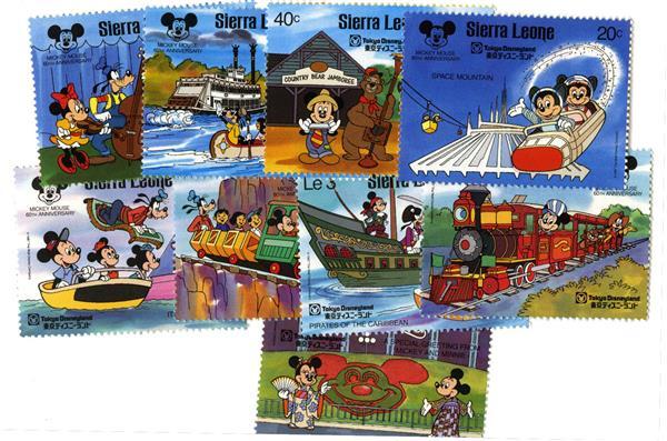 Sierra Leone Tokyo Disneyland, 9 Stamps