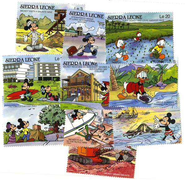 Sierra Leone 1990 Sierra Leone 10 Stamps