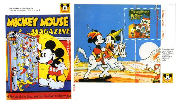 Sierra Leone 1992 Magazine Covers Mickey