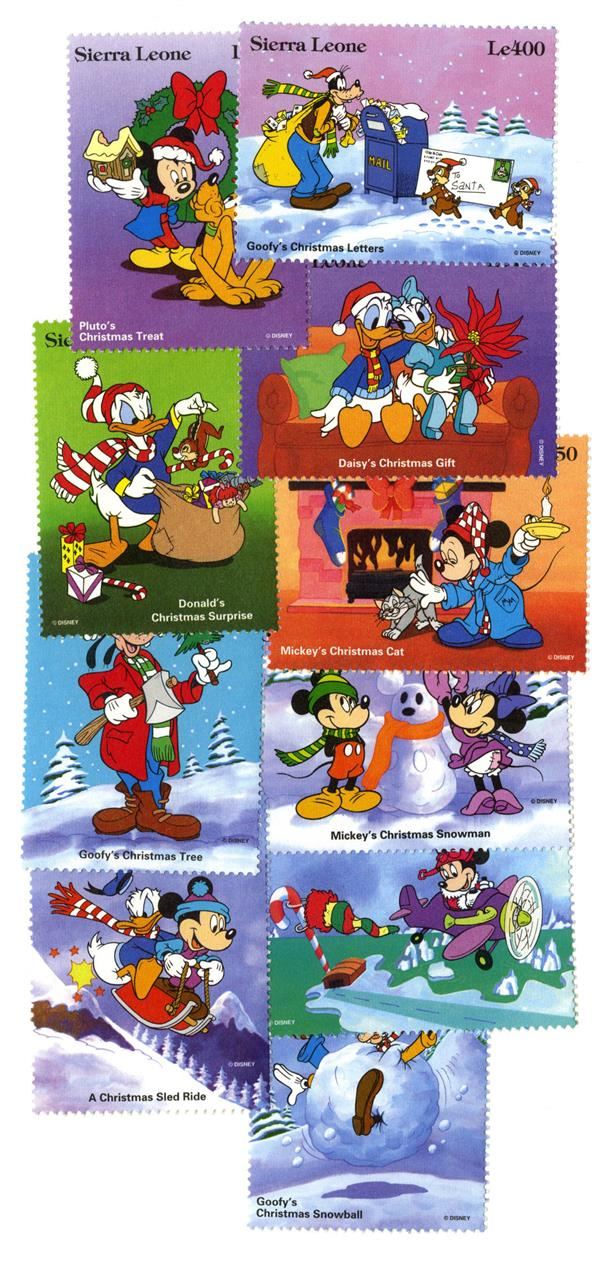 Sierra Leone 1995 Christmas, 10 Stamps