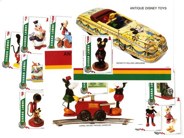 Sierra Leone 1995 Antique Disney Toys
