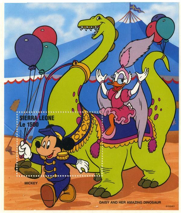 Sierra Leone Daisy & Dinosaur, Mint S/S
