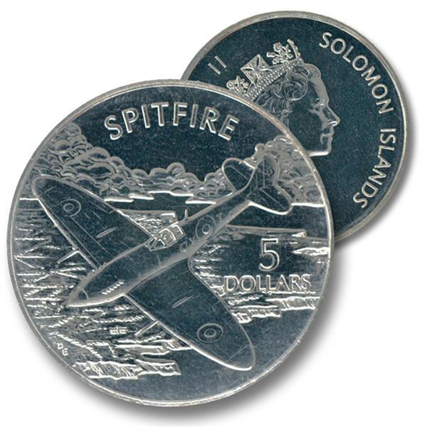 2003 $5 Solomon Islands Cupro-nickel Coin - Spitfire