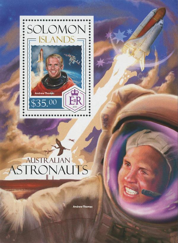 2013 $35 Andrew Thomas, Australian Astronauts souvenir sheet of 1