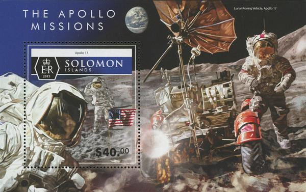 2015 $40 Apollo 17, The Apollo Missions souvenir sheet of 1
