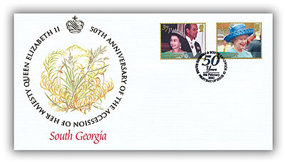 2002 Queen's Golden Jubilee South Georgia FDC