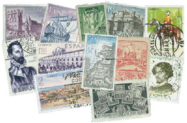 Spain 500 stamps used