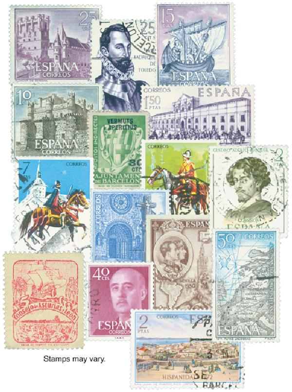 Spain 100 Stamps