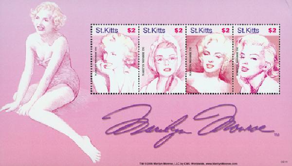 2006 St. Kitts Marilyn Monroe s/s