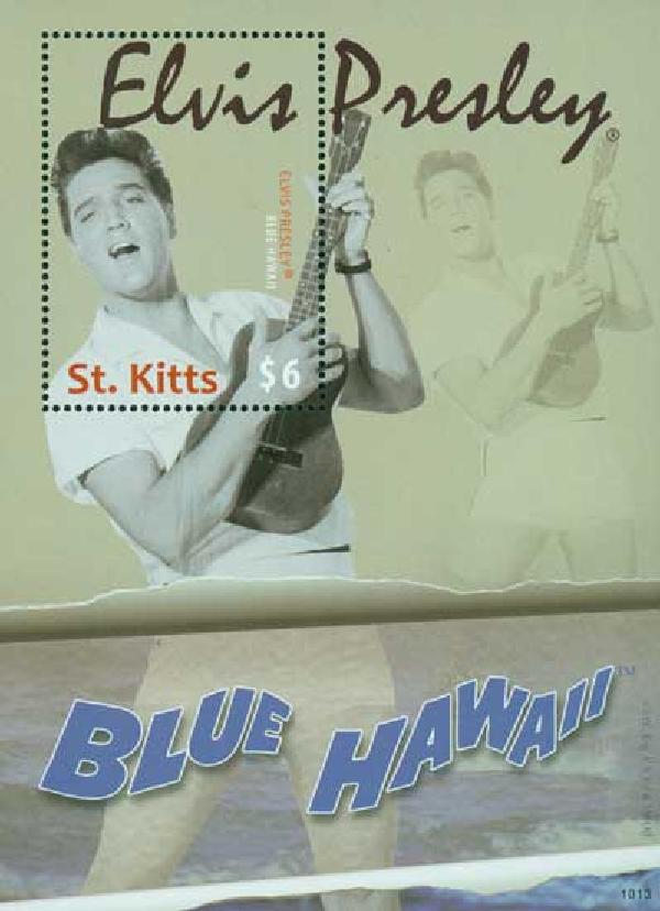 "2010 St. Kitts Elvis ""Blue Hawaii"" 1v Mi"