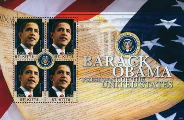 2010 St. Kitts Barack Obama 4v M