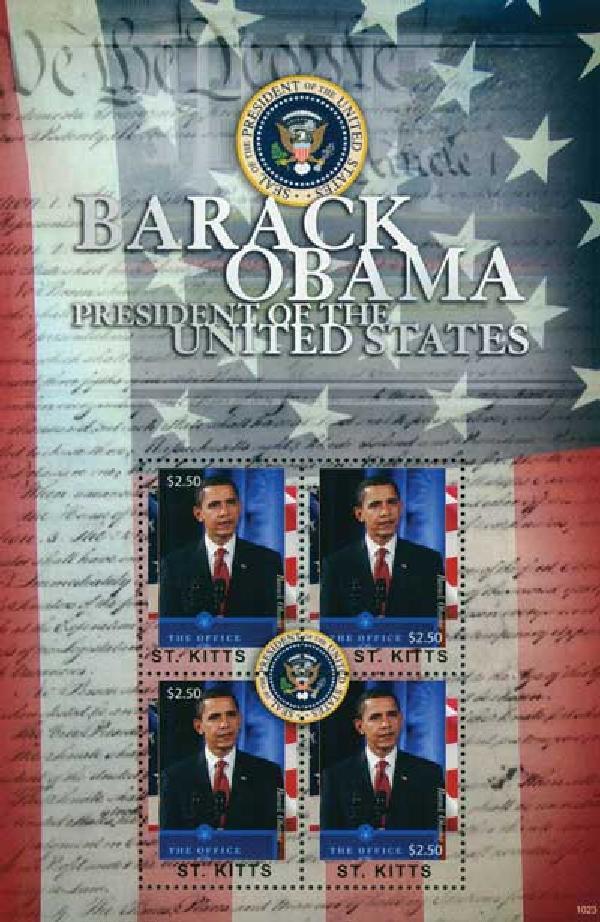 2010 St. Kitts Barack Obama 4v M
