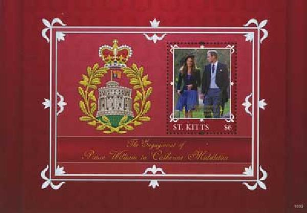 2010 St. Kitts William & Kate s/s
