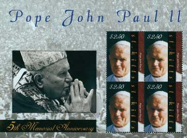 2010 St. Kitts Pope John Paul II 4v M