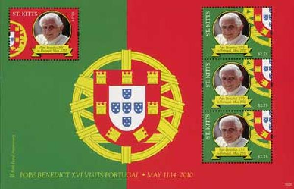 2010 St. Kitts Pope Benedict XVI 4v Mint
