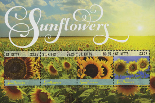 2015 $3.25 Sunflowers sheet of 4