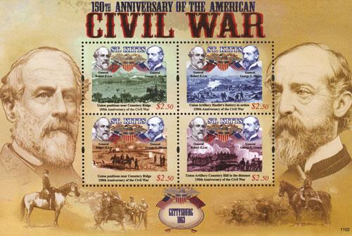 2011 $2.50 Gettysburg 1863 Robert E Lee