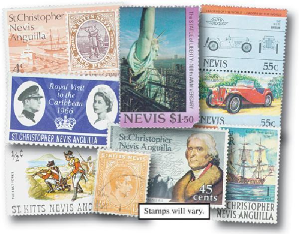 St Kitts-Nevis-Anguilla set of 100