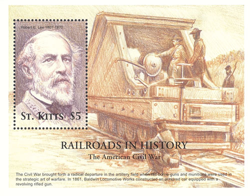 St. Kitts Civil War Trains, R. Lee S/S