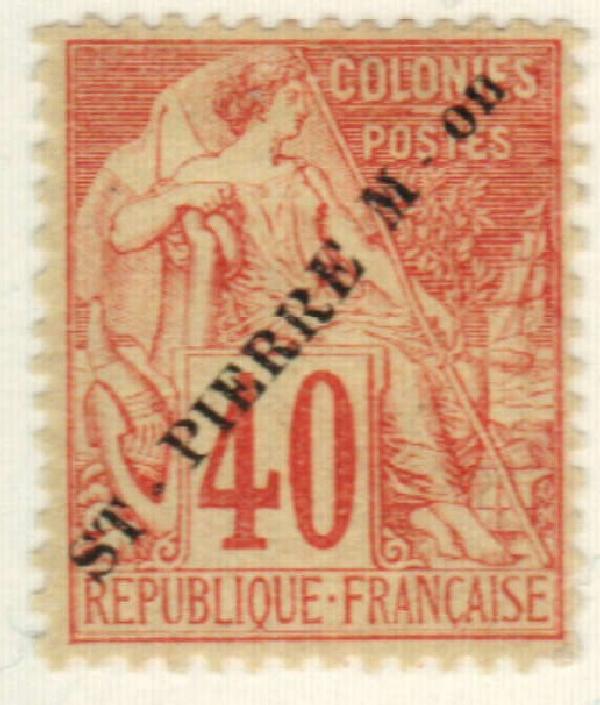 1891 St. Pierre & Miquelon