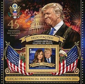 2016 45th Pres-Donald and Melania Trump