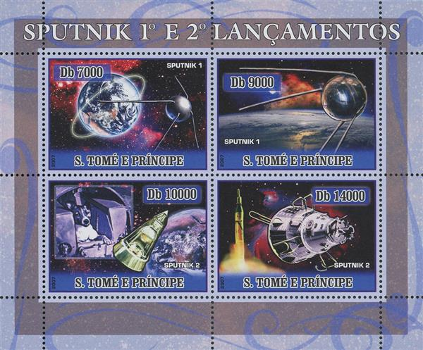 2007 Db7000 Sputnik 1 and Sputnik 2 sheet of 4