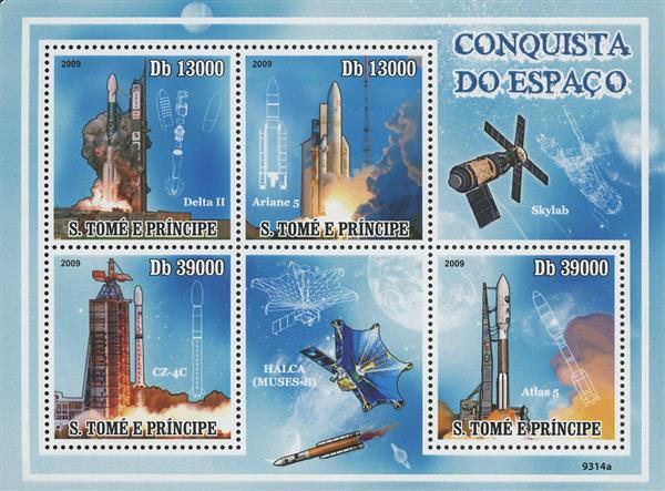 2009 Db13000 Delta II, Spanish Space Conquest sheet of 4
