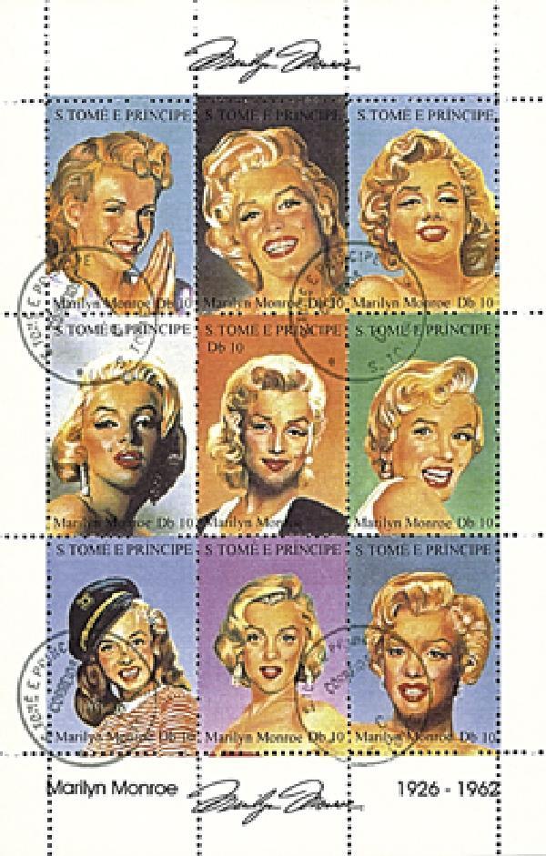 St Thomas, Marilyn Monroe, Sht of 9 CTO