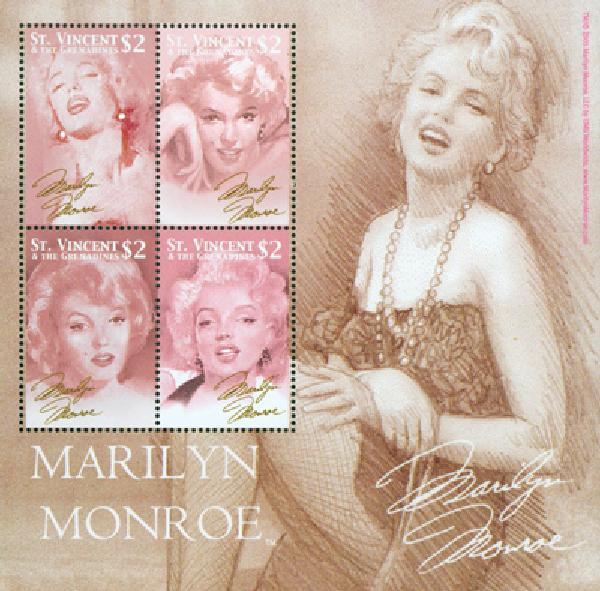 2004 St. Vincent #3189 Marilyn Monroe 4v