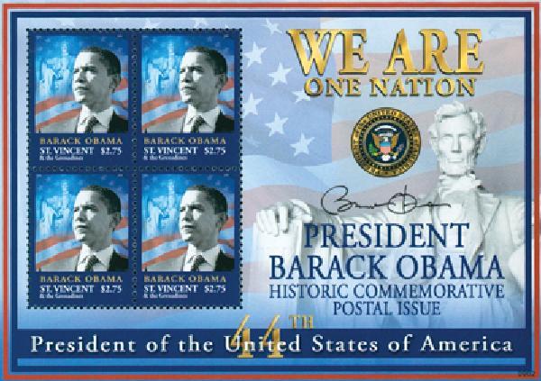 2009 St. Vincent President Obama 4v M