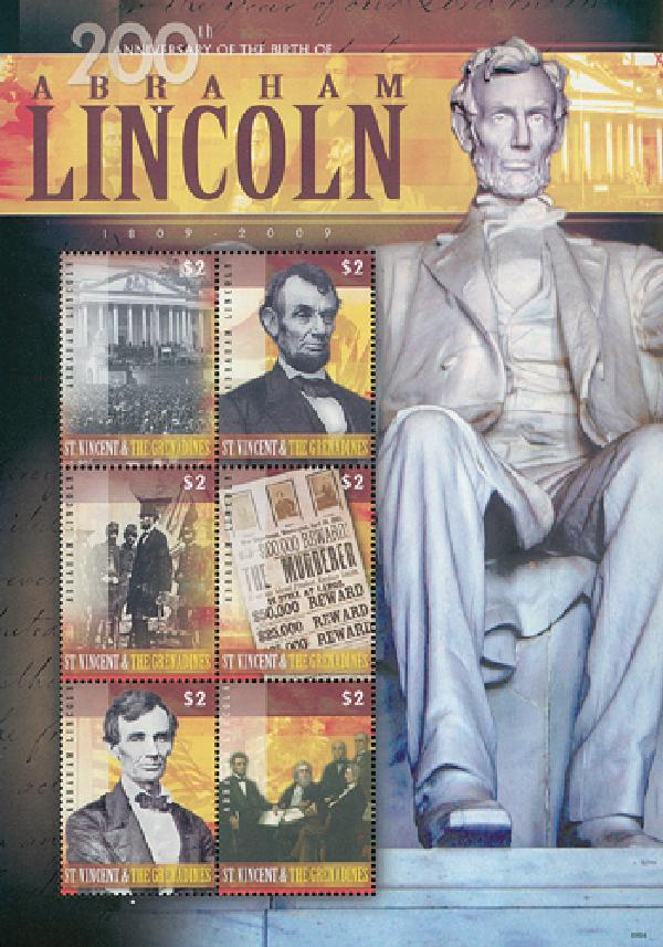 2009 St. Vincent Abe Lincoln 6v Mint