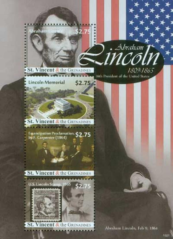 2010 St. Vincint Abe Lincoln 4v Mint