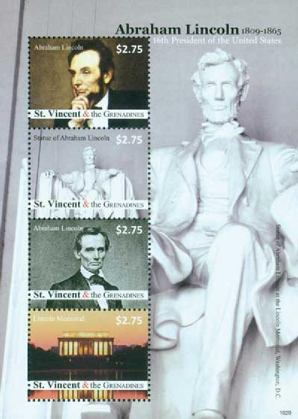 2010 St. Vincent Abe Lincoln 4v Mint