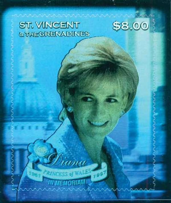 1998 St. Vincent Princess Diana Hologram