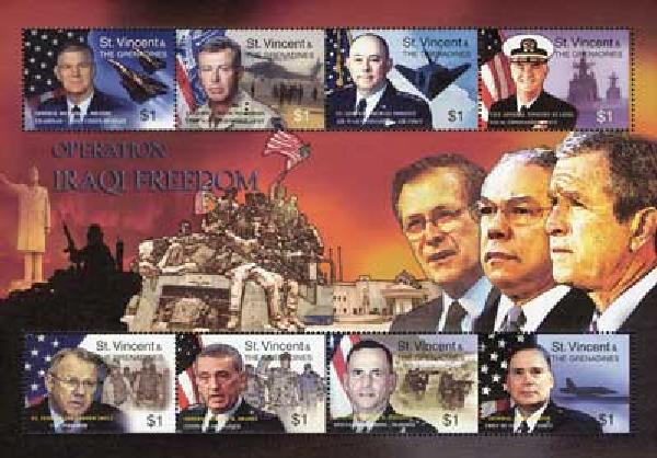 2003 St. Vincent #3143a-h 8v Mint