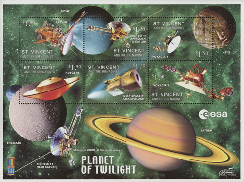 2000 Planet of Twilight sheet of 6