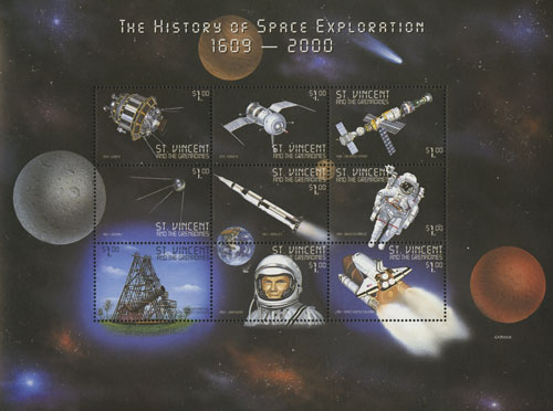 1999 History of Space Explor-sheet of 9