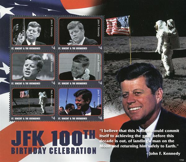 2017 JFK 100th Birth Anniv-Moon Landing